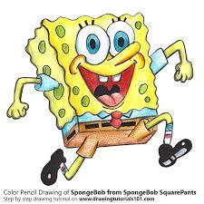 spongebob from spongebob squarepants colored pencils drawing