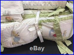 Peter Rabbit Pottery Barn 4pc Pottery Barn Kids Crib Quilt Bumper Sheet Skirt Peter Rabbit