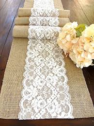 burlap table runner wedding runner antique by hotcocoadesign for