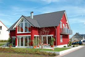 exterior house colors red and white classic and simple