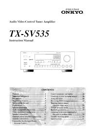 onkyo stereo receiver tx sv535 pdf user u0027s manual free download