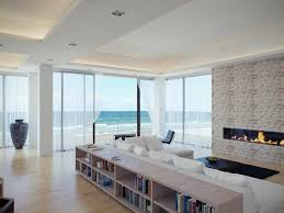 Beach Living Room by Impressive Design Ideas Using Rectangular Black Leather Sofas And