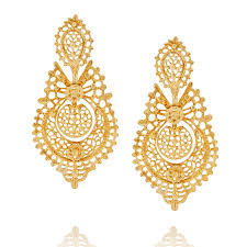 filigree earrings endless summer yellow gold earrings peterson london