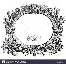 renaissance ornamental frame with beast arch arrows and