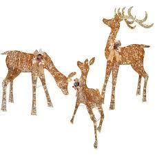 outdoor reindeer family 3 set 220 lights