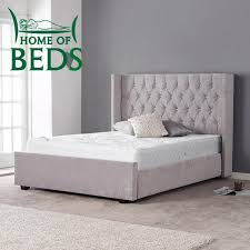 double bed gabriella grey velvet double bed frame