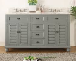 Bathroom Vanities Beach Cottage Style by 62 Inch Bathroom Vanity Cottage Beach Style Snow Gray Color 62
