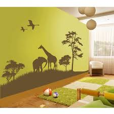 Wall Nursery Decals Grand Safari Nursery Wall Decal By Couture Déco