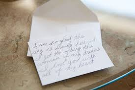 card to groom from on wedding day letter to on wedding day