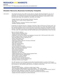 Plan Template Disaster Recovery Plan Template For Small Business Template Idea