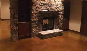 How To Stain A Concrete Basement Floor by Stained Concrete Basement Floor Concrete Craft