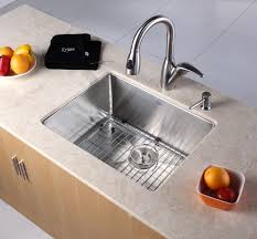 kraus khu10123 23 inch undermount single bowl kitchen sink with 16