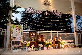 wedding backdrop stand malaysia rustic with fairy lights cafeinees restaurant purple