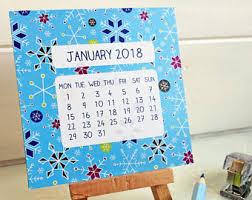 Desk Calendar Design Ideas Mini Desk Calendar Etsy
