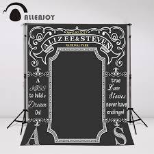 wedding backdrop chalkboard aliexpress buy allenjoy custom blackboard wedding background