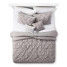 Grey Comforters Queen Gray Natalie Cotton Multiple Piece Comforter Set 5pc Target
