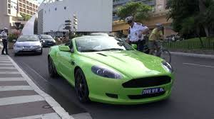 green aston martin busted green aston martin db9 gets stopped by police in monaco