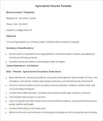 Samples Of Resume Letter by Agriculture Resume Template U2013 24 Free Samples Examples Format