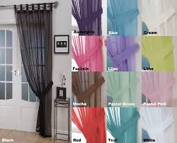 Black And Fuchsia Curtains Tab Top Voile Curtains Amazon Co Uk