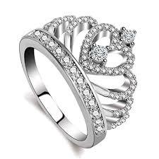 girl heart rings images Godyce princess queen crown rings for women girl heart jpg