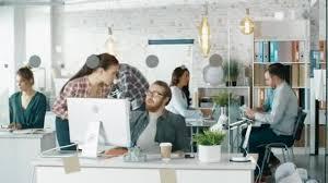 ufficio sta cinema timelapse di un ufficio creativo occupato ufficio persone