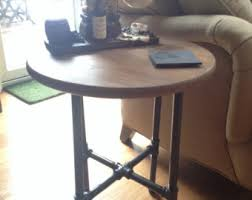round industrial side table pipe side table etsy