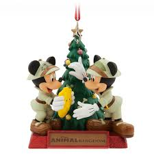 mickey and minnie mouse ornament disney s animal kingdom