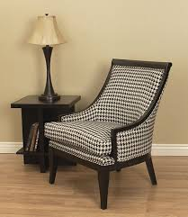 Armchair 406 Medford Black U0026 White Houndstooth Chair Overstock Shopping