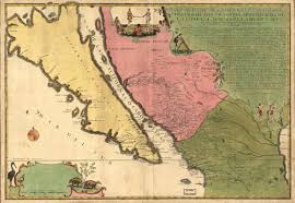 map of mexico and california historical map of mexico baja california 1720