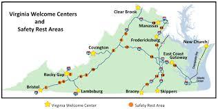 Highway Map Of Virginia by Virginia Safety Rest Area Brochure Highway Information Media