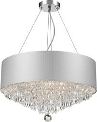 crystal l shade chandelier spectacular deal on modern 8 light chrome finish crystal chandelier