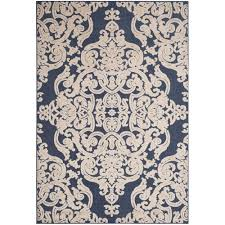 Outdoor Kilim Rug by Safavieh Monroe Navy 9 Ft X 12 Ft Indoor Outdoor Area Rug