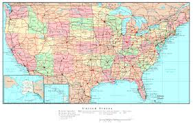 New Map Of The United States map of usa with cities and roads at maps