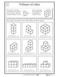 5th grade math volume worksheets kids study volume pinterest