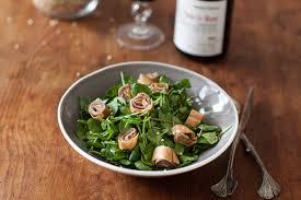 comment cuisiner le cresson salade de cresson aux crêpes au canard fumé et mirabelles