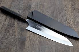 wood handle kitchen knives yoshihiro high speed stainless steel gyuto chefs knife premium