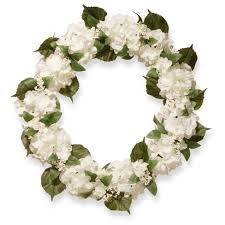 hydrangea wreath artificial hydrangea wreath white 32 national tree company