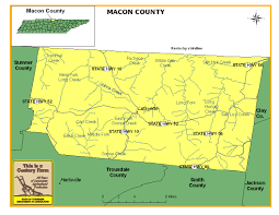 Map Of Middle Tennessee by Macon County Tennessee Century Farms