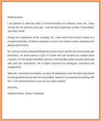 sample recommendation letter for job good resume examples