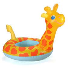 siege enfant gonflable girafe de bande dessinée bouée siège enfant bateau gonflable