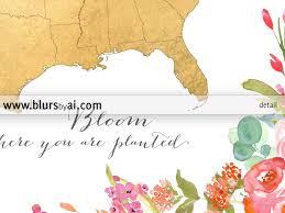 Us Map Printable Colorful Floral Gold Foil Usa Map Printable Art Bloom Where You