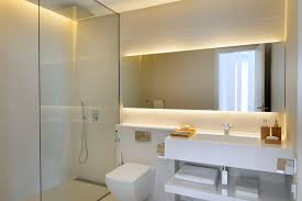 backlit mirror bathroom contemporary with backlit mirror cove