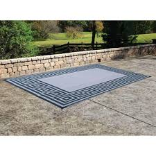 outdoor reversible patio rv mat 9ft x 18ft khaki model tearing