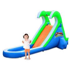 blast zone tropical splash water slide pool compact backyard kid