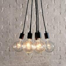 fashion style multi light pendants industrial lighting