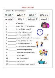 wh questions worksheet by esin