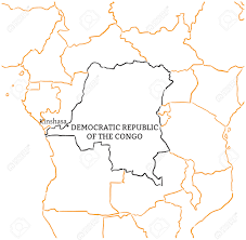 Republic Of Congo Map Democratic Republic Of The Congo Country With Its Capital Kinshasa