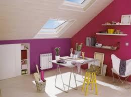 couleur peinture bureau decoration bureau sous combles couleur et violet