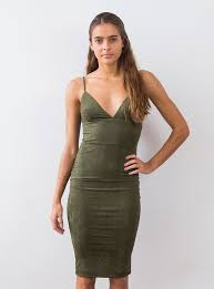 suede midi dress olive u2013 the stylist la