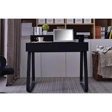petit bureau noir petit bureau informatique en bois et métal noir avec tiroirs